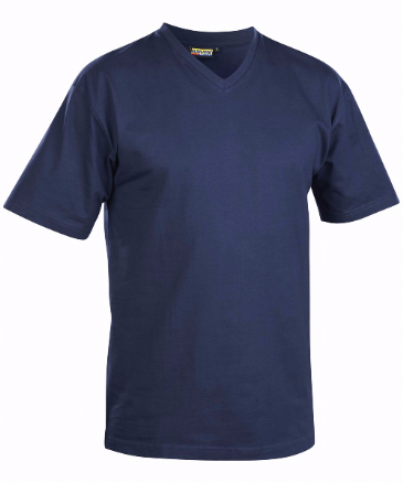 Blaklader 3360 T-Shirt, V-Neck (Navy Blue)